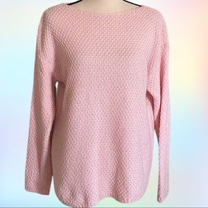 LORD & TAYLOR light pink boatneck sweater.
